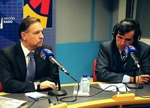Marcelino Iglesias en Aragón Radio. Foto S.E.