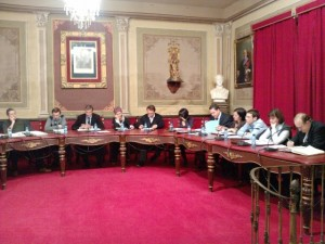 Sesión plenaria de Barbastro. Foto R.S.