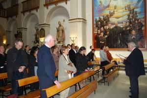 Acto de oración en los misioneros. JLP.
