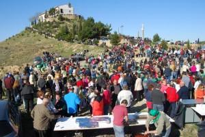 Millares de montisonenses acudieron a La Alegría. JLP.