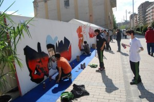 Grafiteros en Arteria. JLP.