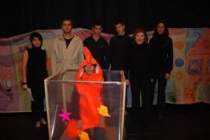 Algunos de los actores del Colegio Especial de la Alegría. JLP.