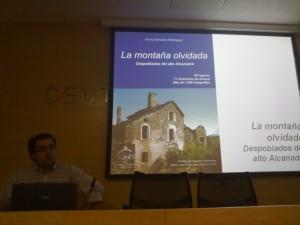 Arturo González presentó La Montaña Olvidada. JLP.