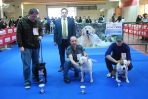 Tres de los ganadores de una de las categorías. JLP.