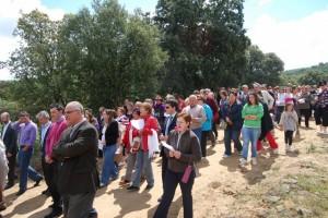Cientos de romeros asistieron a la romería. JLP.