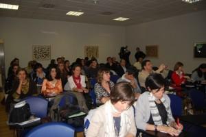 Periodistas durante las jornadas. JLP.