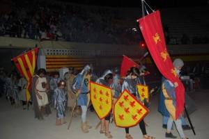 Las tropas cristianas en el sepelio de su rey. JLP.