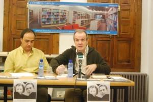Juan José Nieto y Juan Carlos Ferré, en la presentación del libro. JLP.