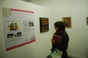 La exposición cuenta con paneles sobre la vida de Julieta. JLP.
