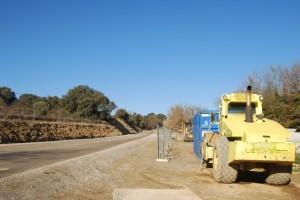 Obras en la carretera de Salas Altas. JLP.
