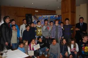 Los campeones de la Escuela de Atletismo. JLP.