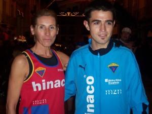 Nuria Sierra y Javier Mariño.