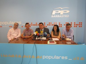 Solana con concejales del PP. JLP.