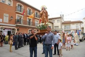 Procesión con la nueva imagen de Santa María Magdalena. JLP.