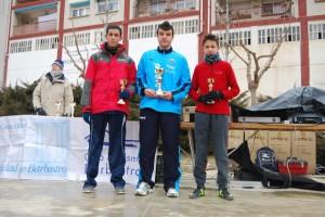 Los tres primeros atletas. JLP.