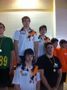 Nadadores de Airon Club Hinaco Monzón.