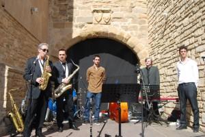 El quinteto de jazz de Estadilla. JLP.