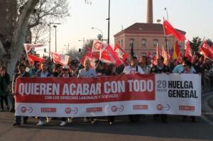 Manifestación de Monzón.
