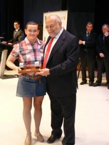 Lola Coscojuela con Jaime Ferrer. Á.H.