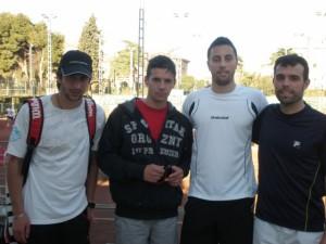 Los tenistas de Monzón.