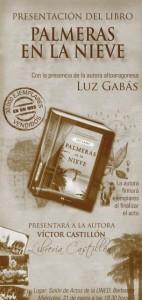"""""""Palmeras en la nieve"""", de Luz Gabás, ha vendido 30.000 ejemplares solamente en este mes."""