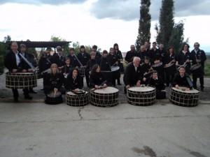 El grupo de bombos y tambores de Salas Altas.