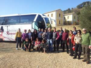 Primer bus del Vino Somontano. 