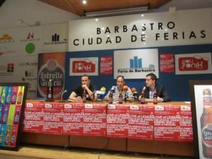 Arana, Blázquez y Carpi en la presentación del Polifonik. JLP.