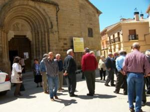 Salida de misa en Berbegal.