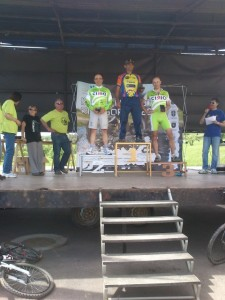 Podium en Secastilla.