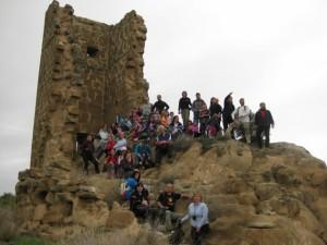 Foto de familia en la Torre Farnagüelo.