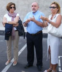 De Larrea, Martínez y Cañellas (de izquierda a derecha).