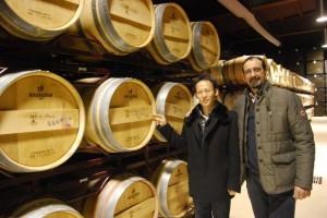 Mariano Beroz con uno de sus socios chinos. JLP.