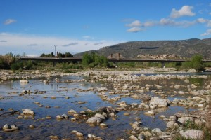 Río Cinca a su paso por Barbastro. JLP.