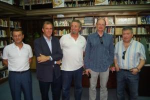 Luis Sánchez, Antonio Cosculluela, Pere Rovira, Fernando Marías y Chusé Inazio Navarro. José Luis Pano.