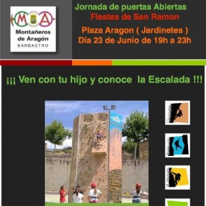 Cartel de escalada.