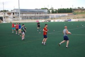 Una sesión de entrenamiento en Barbastro. JLP.
