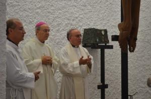 Milián y Perna durante la eucaristía. JLP.