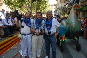 Santolaria, Sánchez y Huguet, nombrados dulzaineros de honor. JLP.