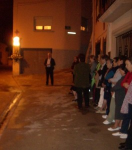Vecinos de Estada, en el Rosario del día del Pilar. Foto: P.V.