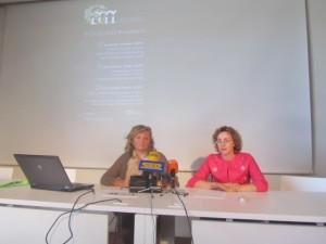 Maite López y Rosa Viñuales. JLP.