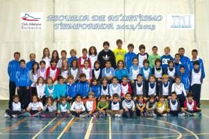 Escuela de atletismo de Barbastro.