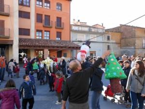 Decoración navideña en El Grado.