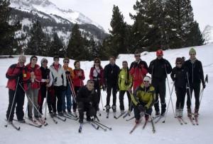 Curso de esquí de 2012.