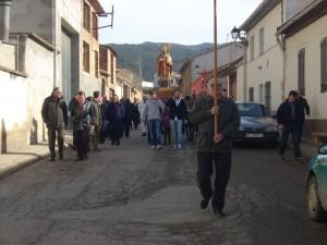 Procesión de San Valero en Estada. Foto: Paco Velázquez.