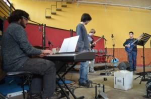 Alumnos de la Escuela de Música de Barbastro. JLP.