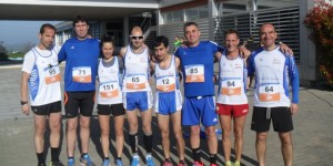 Atletas de Barbastro en Huesca.