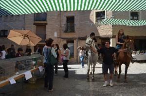 Paseos a caballo en la feria de Alquézar. JLP.