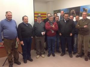 Agricultores de Almonte en la se de la asociación de hortelanos del Alto Aragón. JLP.