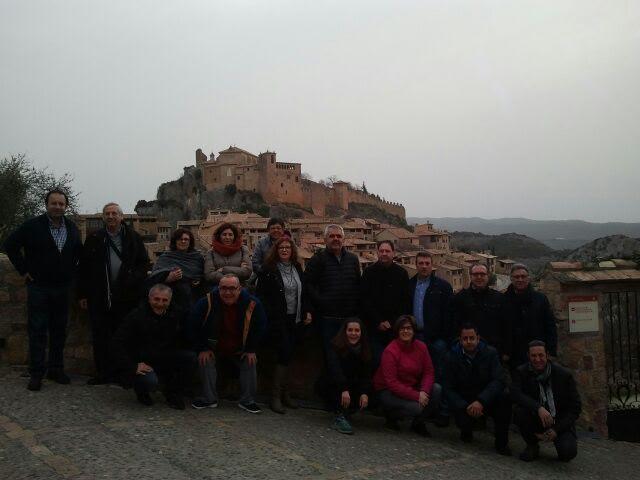 Fotografía de la visita del GAL Caroig Xúquer al Somontano. Foto: Departamento de Prensa de Huesca.